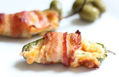 Pimento cheese stuffed jalapeno wrapped with bacon from Daily Crave by Natalie Lewis.