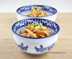 Spicy Mung Bean Salad - Sukju Namul, add garlic & green onions!