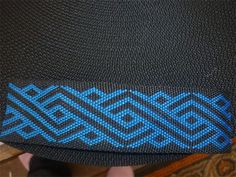 blue taniko patterns maori