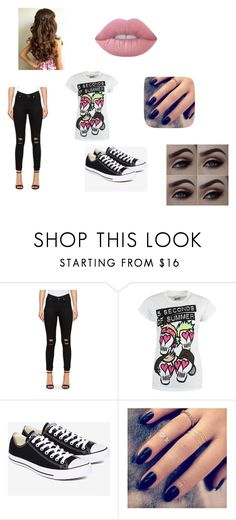 """My daily Look"" by alissaoriginal on Polyvore featuring Cheap Monday, Converse, Lottie and Lime Crime"