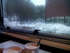 Desayuno con vistas a la nieve de Manzaneda