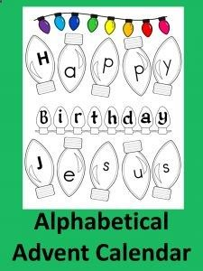 A FREE Advent Calendar: Happy Birthday Jesus! Super FUN idea that teaches reading too!