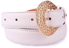 Classic White Calfskin Soft Grain Naturally Wrinkled Leather Ladies' Belt By Casanova1948 https://www.casanova1948.com/en/classic-belts/classic-white-calfskin-soft-grain-naturally-wrinkled-leather-ladies-belt-91.html
