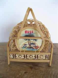 Collectable Fiji Holiday Coasters and Wicker coastercarry. $25.00, via Etsy.