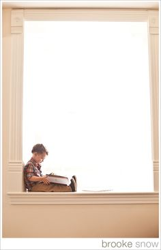 Little #boy reading a #book. Reminds me my son )))