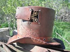 Hey Friends.    My brother made this amazing steam punk hat.  Be sure to check out his other creations.