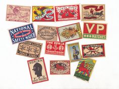 Vintage Matchbox Labels Cool Graphics Worldwide by PaperAeroplanes