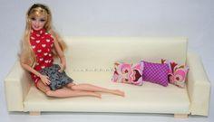 Barbie kanapé készítése/ Barbie furniture, Barbie couch DIY.