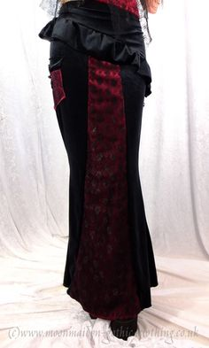 Perfidia Ultimia long steampunk goth Skirt by Moonmaiden Gothic Clothing UK