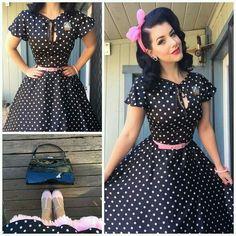 Moda Vintage Swing Dress Ideas For 2019 Rockabilly Moda, Rockabilly Fashion, 1950s Fashion, Vintage Fashion, Rockabilly Style, Rockabilly Ideas, Rockabilly Girls, Punk Fashion, Lolita Fashion
