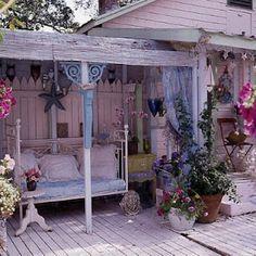 beach shabby fairy porch
