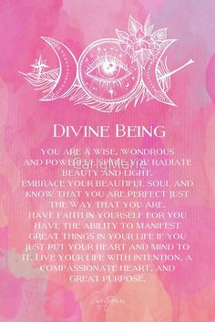 Divine Being by CarlyMarie Daily Affirmations, Framed Prints, Canvas Prints, Meditation, Christian Meditation, Zen