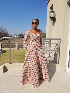 50 traditional shweshwe dresses 2018 new - Styles Latest Ankara Dresses, Ankara Dress Styles, African Print Dresses, African Fashion Dresses, African Dress, African Prints, African Attire, African Wear, African Women