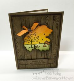 Fall Card :: Confessions of a Stamping Addict