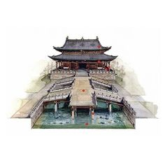 archisketchbook - architecture-sketchbook, a pool of architecture drawings, models and ideas - Classic Chinese Ancient BuildingsCutawaysLi...