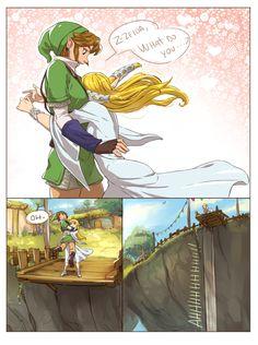 "The Legend of Zelda: Skyward Sword / Link and Zelda / ""Hugs?"" - Work by Hunter x Hunter ♥ The Legend of Zelda (1)"