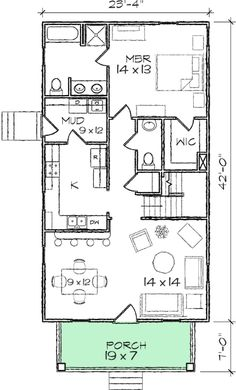 Two bedroom house plans two bedroom cottage floor for Lot plan search