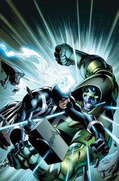 Black Bolt vs Ronan by Mark Bagley