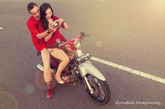 @fheraindah sweet prewedd with classic theme #honda #c70