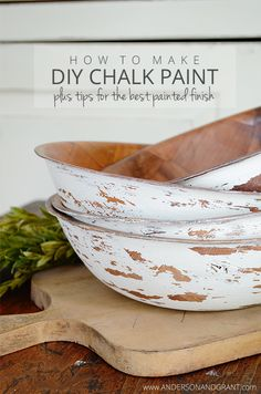 Tips and Tricks for using chalk paint for furniture and DIY projects.  Plus a recipe for making DIY Chalk Paint.