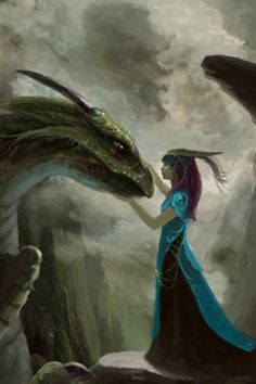 A girl and her #dragon