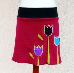 Sukně fleece - Tulips