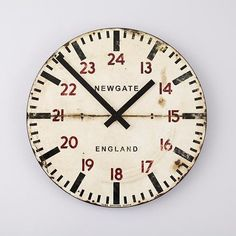 Industrial vibe of a European train ride - the tube station wall clock