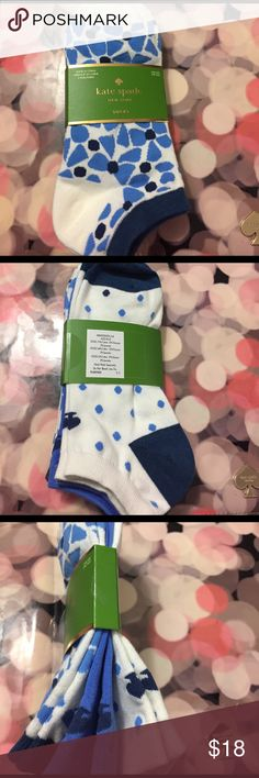 Kate Spade 3 pair socks NWT Alice Blue 3 pair Socks kate spade Accessories Hosiery & Socks