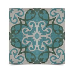 Agadir Pack of 12 Handmade Royal Green Cement and Granite Moroccan Floor and Wall Tile (Morocco) - Overstock™ Shopping - Great Deals on Accent Pieces