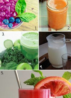 Healthy Recipes: 5 simple juicing ideas...very similar to drinks available with our neighbors at the Juice Bar