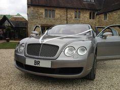 Our wonderful wedding car, a Bentley flying spur