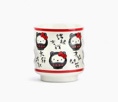 Hello Kitty Ceramic Tea Cup: Black