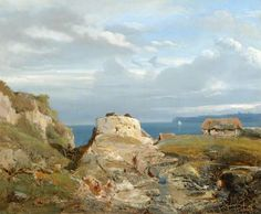 Joséphine Bowes, An Old Tower near the Sea