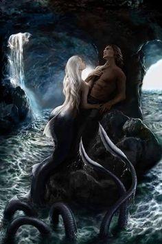 Couple Clipart mermaid 19 - 236 X 354 Art Village, Magical Creatures, Sea Creatures, Fantasy Kunst, Fantasy Art, Fantasy Inspiration, Character Inspiration, Mermaid Wallpapers, Fantasy Couples