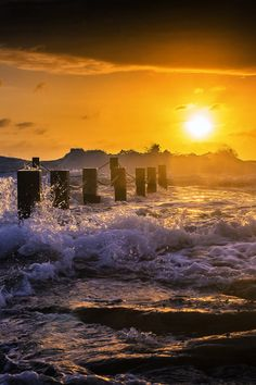 A golden morning on The Eastern NSW Coastline - Maroubra, Australia  (by Jason Crowell Photographics on 500px)