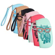 Newest Cute Owl Glasses Printing Women Long Wallet PU Leather Purse Clutch Zipper Handbags Card Holder #jewelry, #women, #men, #hats, #watches, #belts, #fashion