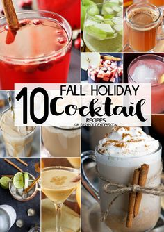 Fall Holiday Cocktail Recipes to kick off your holiday season. Perfect for parties & family gatherings, Thanksgiving & Christmas. Deliciously tasty drinks!