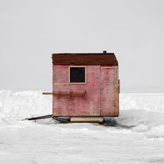 Since 2007 photographer Richard Johnson has been traveling around Canada documenting ice fishing huts. Ice Fishing Huts, Fishing Shack, Into The Wild, Ice Shanty, Tiny House Cabin, Canada, Little Houses, Tiny Houses, Interior And Exterior