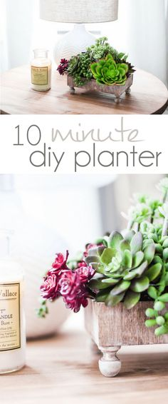 I upcycled a Melissa & Doug Wood Toy box into a fun new 10 Planter in 10 minutes!!  DIY Planter tutorial, DIY Planter Step by Step.