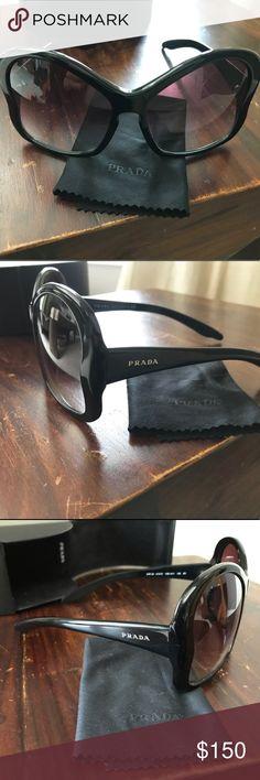 b660c0d543 PRADA oversized butterfly sunglasses w  case