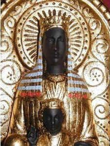 The Black Madonna of Montserrat.    Also, the Holy Grail was said to be kept safe at the castle of Munsalvaesche (mons salvationis) or Montsalvat (Montserrat), entrusted to Titurel, the first Grail-King.
