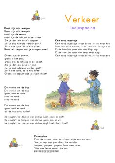Liedjespagina: Verkeer Learn Dutch, People Who Help Us, Kids Poems, Monster Trucks, Pre School, School Projects, Diy For Kids, Transportation, About Me Blog