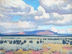 Dixon Maynard - Ponies Coming to Water Western Landscape, Landscape Art, Landscape Paintings, Landscapes, Paintings I Love, Classic Paintings, Acrylic Paintings, Maynard Dixon, Southwestern Art