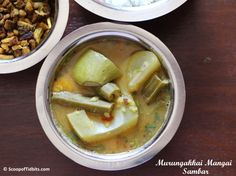Today's recipe is Murungakkai Mangai Sambar or Drumstick Raw Mango Sambar. Murungakkai Mangai Sambar is one of the most flavorful Sambar. The aroma that ar