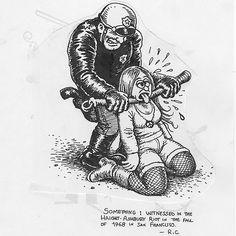 Robert Crumb cede dois desenhos para protestos do Movimento Passe Livre  IDesenho de Robert Crumb cedidos ao MPL. Foto: Divulgacao ***DIREITOS RESERVADOS. NÃO PUBLICAR SEM AUTORIZAÇÃO DO DETENTOR DOS DIREITOS AUTORAIS E DE IMAGEM***