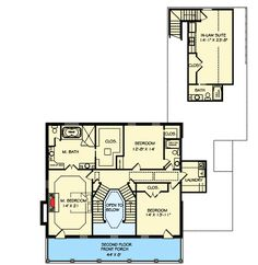 Exclusive Home with Stacked Porches & In Law Suite - 77600FB | Architectural Designs - House Plans