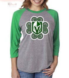 5ab57a6fd Vegas Golden Knights St Patricks Day Celtic Heart Unisex Raglan