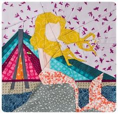 Warsaw Mermaid Quilt Block | Go under the sea with this gorgeous paper piecing block!
