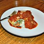 Spinach Lasagna Roll Ups (Red Sauce)