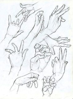 Hand Sketches by ArsonAnthemKJ on DeviantArt Hand Sketches by ArsonAnthemKJ on DeviantArt Drawing Practice, Drawing Skills, Drawing Poses, Drawing Techniques, Life Drawing, Figure Drawing, Anatomy Sketches, Body Sketches, Anatomy Drawing
